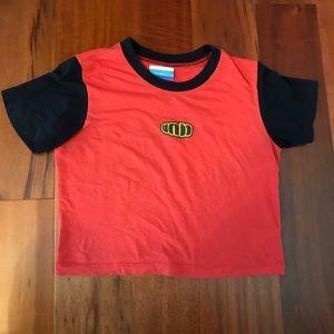 rare Unif fat logo baby tee